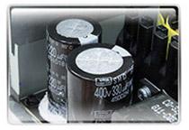 長寿命・高品質な日本製コンデンサを100%採用