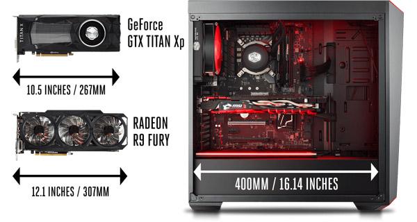 最大400mmの拡張カード搭載スペースを確保
