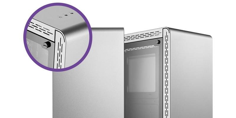 シンプルなデザインのシームレスパネルを採用