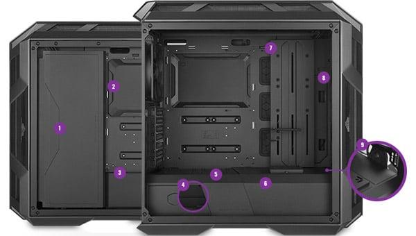 ケース内部をすっきりと見せることができる各種カバー