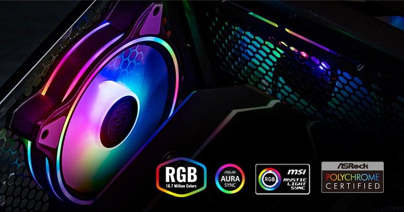 デュアルループ アドレサブルRGB LEDを装備