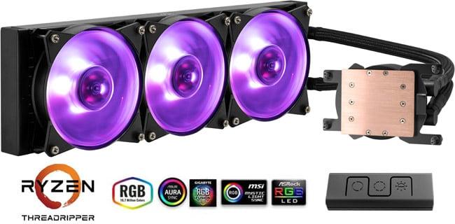 ファンと水冷ヘッドにRGB LEDを搭載