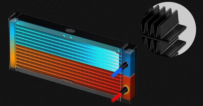 ラジエーターの表面積を拡大し放熱効率を向上