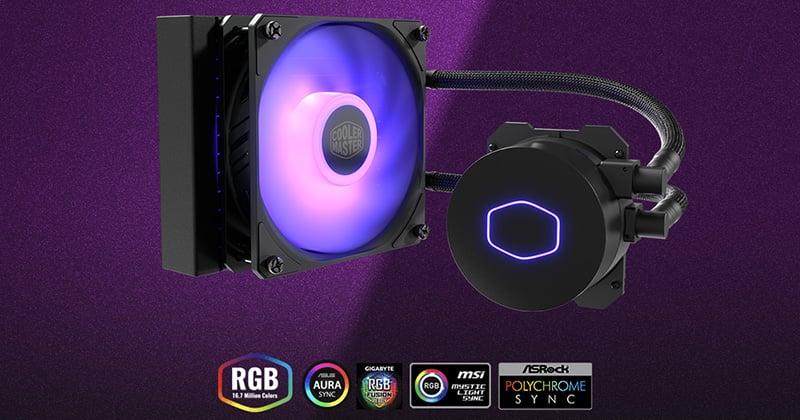 SickleFlow 120 RGBファンを搭載