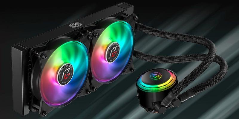 ファンと水冷ヘッドにアドレサブルRGB LEDを搭載