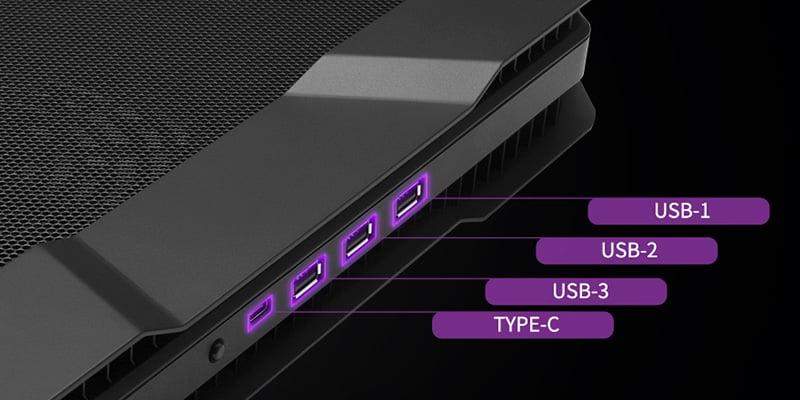 USB Type-Cポートを含むUSBハブを装備