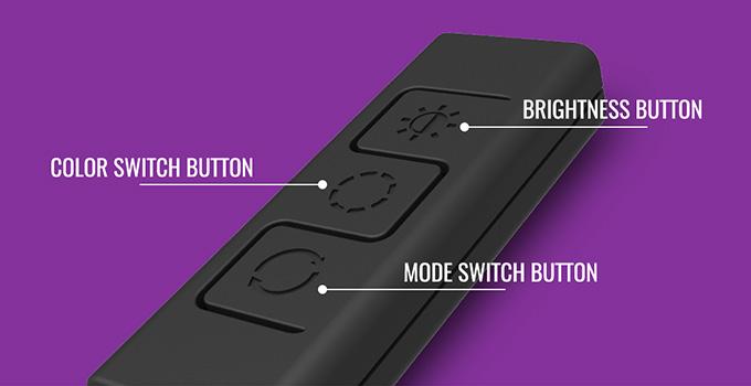 RGB LED搭載パーツのライティングを簡単に切り替え可能