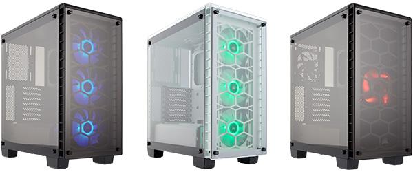 フロントとサイドに強化ガラスパネルを採用