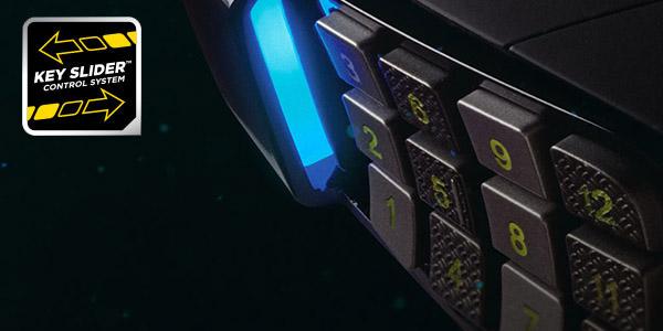 ボタン位置を調整可能なKEY SLIDERシステム採用