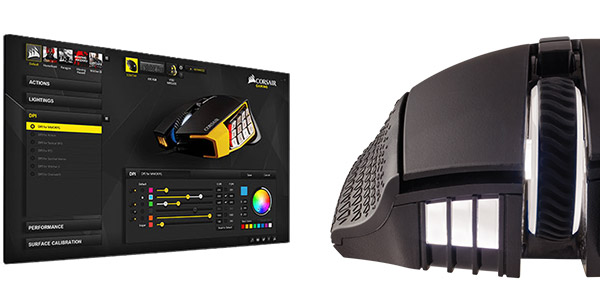 RGB発光対応のLEDバックライトを4箇所に搭載