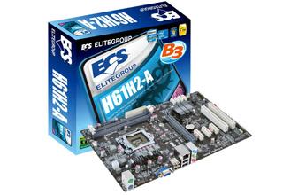 ECS H61H2-A   ECS マザーボード Intel H61チップセット   株式