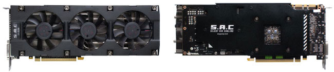 静音性に優れるS.A.C冷却ファンを3基搭載