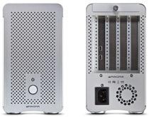 PCI Expressボードを最大3枚搭載可能