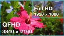 QFHDの超高解像度出力に対応