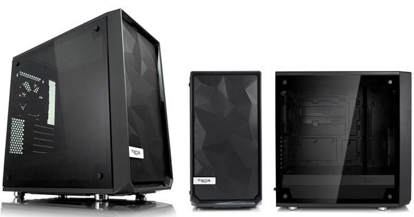新しく設計された角形メッシュのフロントデザインを採用する「Meshify C Mini Dark TG」