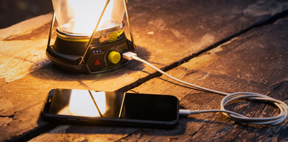 USB出力機能を備えパワーバンクとしても使用可能