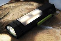 3つの点灯モードを備えたLEDフラッシュライト