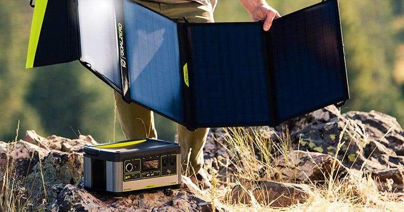 Goal Zero社製ソーラーパネルからの充電に対応