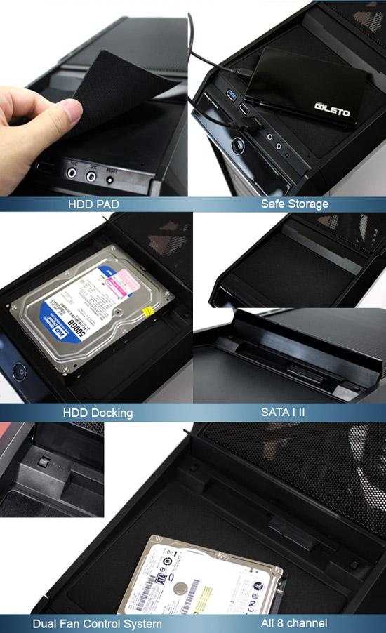 HDDドッキングステーション・ファンコントローラー搭載
