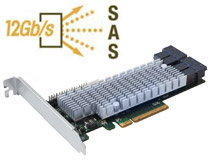 12Gb/s SAS、PCI Express 3.0 x8に対応