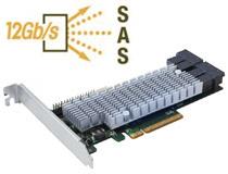 12Gb/s SAS、PCI Express 3.0 x8に対応