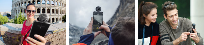 Androidスマートフォンに接続できる360度ビデオカメラ