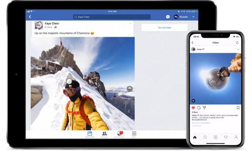 専用アプリでSNS投稿やライブ配信が可能