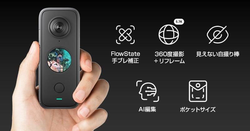 多彩な独自機能を備えた360度カメラ