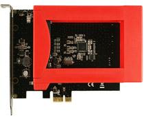 PCI Express拡張ボードにストレージ2台搭載
