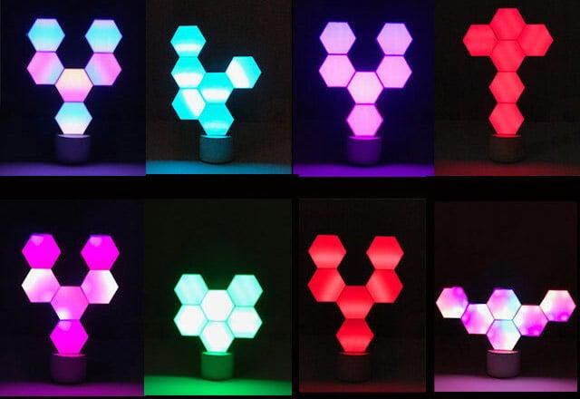ブロック式LEDライトを組み合わせて自由なデザインに!