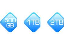 500GB、1TB、2TBモデルをラインナップ