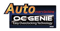 簡単な設定でオーバークロックを可能にする「OCジニー II」を付属