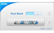 簡単にBIOSセットアップ画面へ移行できる「GO2BIOS」