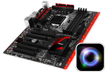 多彩な色彩をサポートするRGB LEDを装備
