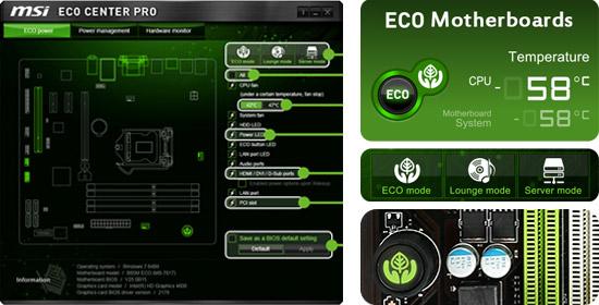 エコに最適化された基板とECO CENTER PROを搭載