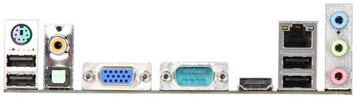 SATA 6Gbps・ギガビットイーサ・COMポート・PS/2など、豊富なインターフェースを装備