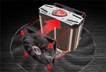 優れた冷却効率を実現するトルクスファンを1基搭載
