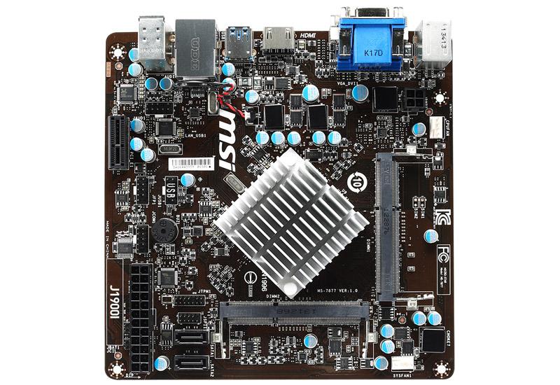 Mini-ITX DDR3 SO-DIMM MSI J1900I Motherboard with built in Celeron J1900 CPU