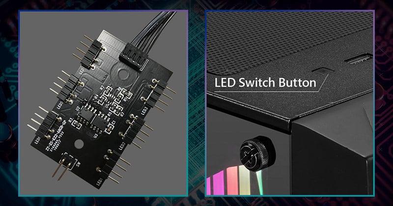 RGB LEDコントローラを装備