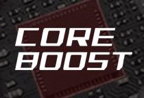 高い精度の電源供給を実現する「Core Boost」