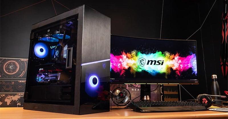Mystic Light対応のアドレサブルRGBファンを4基装備