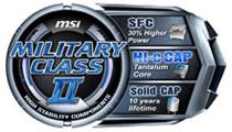 高品質部品を採用するMSIの「ミリタリーIIクラスコンポーネント」準拠