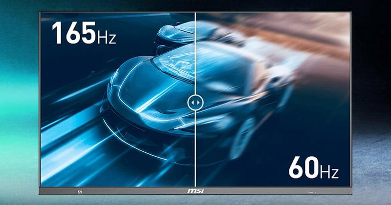 リフレッシュレート165Hzの優れたパフォーマンスを実現