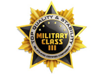 高品質部品を採用する「ミリタリーIIIクラスコンポーネント」に準拠