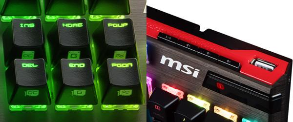 MSIハードウェアをコントロールできるホットキーを搭載