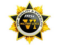 高品質部品を採用する「ミリタリークラス6」に準拠