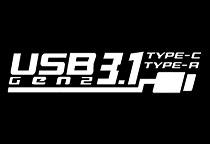 最大10GbpsのUSB 3.1 Type-A/Cポートを搭載