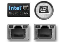 安定性を重視したIntel製ネットワークを2ポート搭載