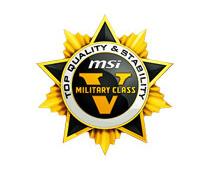 高品質部品を採用する「ミリタリークラスVコンポーネント」に準拠