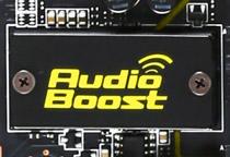 クリアなゲームサウンドを実現する「Audio Boost」回路を搭載